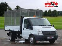 2013 FORD TRANSIT 2.2 TDCi 125ps T350 Single Cab Tipper WITH GALVANISED CAGE DIE