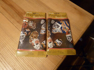 2 packs of PrePasted Wallpaper Border Hockey Goalie Masks NEW