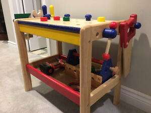 Kid's Work Bench - Solid Wood