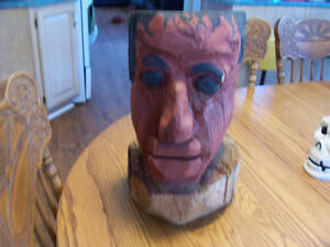 Folk Art Carving  17 tall and 8in wide
