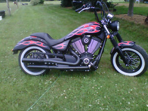 2014 Victory Highball Flamed edition
