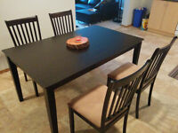 4-chair and table dining set