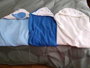 3 hooded blankets $10.00 for all 3