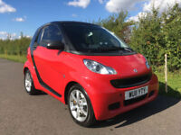 2011 SMART FORTWO PULSE CDI AUTO COUPE 0.8 DIESEL RED