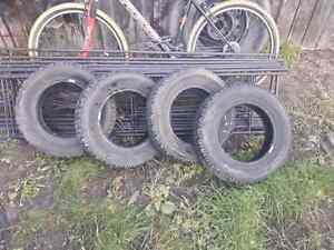 A set of 4 Radial HT Winter Snowmark P155/80R13 tires