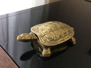 Small decorative Brass Turtle Box