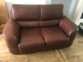 Tan Brown Leather Suite 2+1 by Max Divani