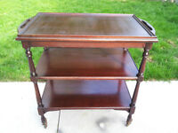 Vintage 50's Bar Cart Tea/Coffee Trolley Serving Table