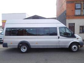 NO VAT! Ford Transit LWB 2.5 17 seat minibus RWD one owner (45)