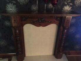Hand made solid wood fire surround
