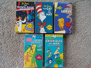 Lot of 5 VHS Dr. Seuss videos London Ontario image 1