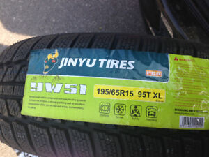 4 JINYU WINTER TIRES 195 65 15  95T . XL - BRAND NEW