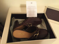 COACH -BRAND NEW in Box: SHASHA clogs (Brown Leather)