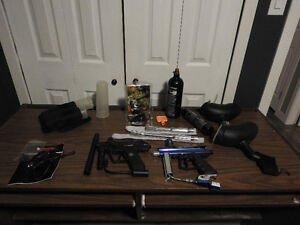 Two Paintball Markers and All gear (No Masks)