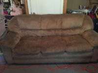 Microfibre Couch - Light Tan/Brown