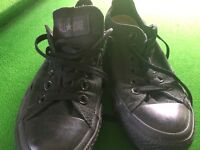 As New black Converse All star shoes unisex size 5