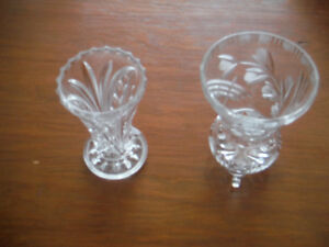 """Two Crystal Vases 5"""" - $20.00 for the pair"""