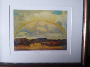 rainbow by tom thompson art limited print painting frame