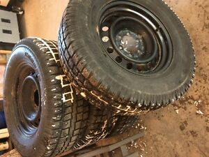 Toyota 4runner tacoma OEM steel wheels and winter tires