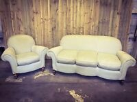 Gorgeous Retro Vintage 3 Seater Sofa suite & armchair - FREE DELIVERY