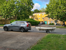 10ft Fibre Glass boat with Trailer and a lot of extras