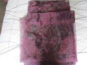 Purple Sheer Drapes - Set of 2 Panels - 72 x 92