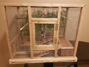 Home-made Wooden Bird Cage
