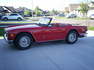 Red 1973 TR6