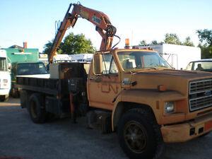 94 FORD F700 Diesel HIAB Picker / Crane Truck, only 58 000 kms