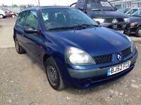2002/52 Renault Clio 1.2 16v a/c Expression FULL MOT EXCELLENT RUNNER