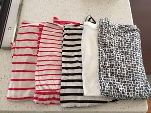 Five Gently Used Maternity Tops, Short Sleeve, Size Small