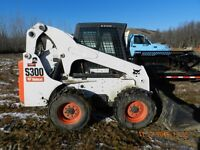 Bobcat,Gravel Truck, Tilting Trailer,10 ft. Snow bucket,Grapple