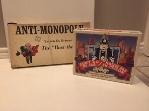 Anti-Monopoly and Don't Go to Jail Games