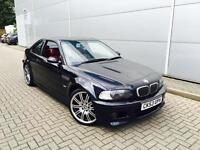 2003 53 Reg BMW M3 3.2 Coupe + Black + RED LEATHER + FACELIFT MODEL