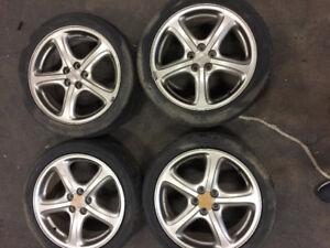 17 inch subaru wrx imprezza  oem wheels fits all 5x100 hubs