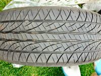 2 four-season tires P195/65R15 89H good used for sale
