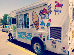 2 Fully Equipped Ice Cream Trucks with Business for Sale