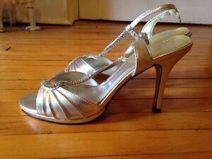 Silver Sparkle Heels Belleville Belleville Area image 1