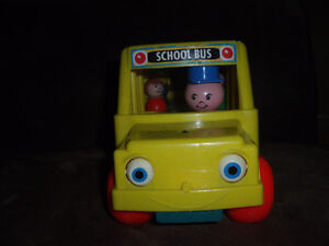 Fisher Price Little People #192 school bus vintage wooden toy West Island Greater Montréal image 2
