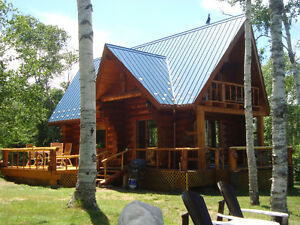 Seaside Hand Crafted Log Home For Sale