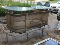 beautiful outside bar with second shelf can come apart