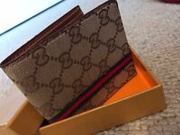 Gucci Mens Wallet -Brown & Black - Can post!
