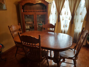 7 pc table & China cabinet on sale