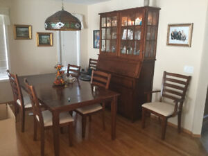 Dining Room Table And Hutch Buffet Chairs