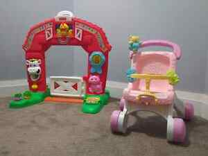 Fisher price farm and stroller