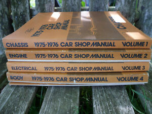 1975 1976 Ford Car Shop Manual Chassis Engine Electrical Body