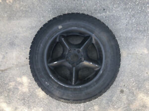 4x 5x120 Winter Tires and Wheels, 235/65R17