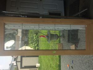 Solid spruce glass door