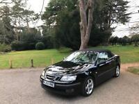 2005/55 Saab 9-3 1.8t Vector Sport 2 Door Convertible Black