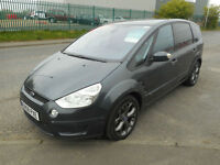 FORD S MAX TITANIUM 2.2 DIESEL MANUAL 5 DOOR MPV DVDS IN REAR LEATHER